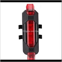 Aessories Cycling Sports & Outdoorsrechargeable Bicycle Folding Lamp Red Tail Mountain Warning Bike Lights Drop Delivery 2021 Kbd8J