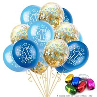 1 Year Old Balloon Paper Set Baby Shower Birthday Party Decoration Balloons Sets 12 inches