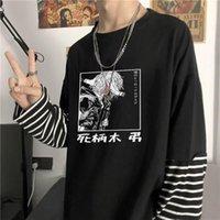 المتناثرة الأزياء اليابان أنيمي بلدي البطل أكاديميا المانجا الزى المرأة مضحك الكرتون شارتاكي تومورا وهمية قطعتين المشارب تي شيرت الرجال t-shi