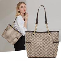 Evening Bags 2021 Luxury Designer Brand Shopper Shopping Chain Sling Fashion Plaid Mahjong Leather Handbags Shoulder Tote For Women