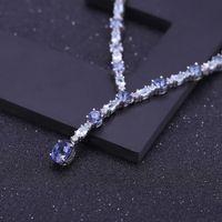 Collares Ballet de la gema 925 Sterling Silver Collar nupcial Natural Mystic Cuarzo Sky Blue Topaz para las mujeres joyería fina