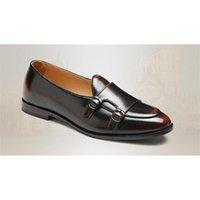 Promosyon Yeni Moda Erkek Toka Bronzlaşmış Siyah Cusp Mezuniyet Loafer'lar Siyah Günlük Elbise Ayakkabı Bize Boyutu: 6.5-10 483