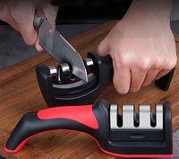 Portable knife sharpener household kitchen fast grindstone diamond ceramic hand sharpeners kitchens supplies