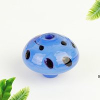 Smoking Accessories 30mm Mushroom Glass Carb Caps Colorful Bubble Cap Heady For Quartz Banger Nails Water Bongs Oil Rigs Pipes DHE6492