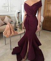 2021 elegante borgonha vestidos de noite v pescoço plissado mulheres árabe mulheres sereia formal vestidos de baile robe de soiree longupe festa vestidos