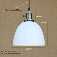 Pendant Lamps 4 Color Loft Modern Industrial Hanging Lamp Vintage E27 LED Lights With Switch For Kitchen Bar Coffee Light Fixtures