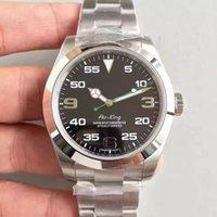 Montre de luxe Hommes 40mm Noir Cadran King 116900 Huîtres automatiques U1 3A Saphir Verre Saphire Acier inoxydable MONTRE HOMME 2813
