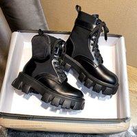 Mujeres Diseñador Estilista Rois Botas Tobillo Nylon Pocket Black Boot Black Inspirado Inspirado Cobinado Boots Nylons Pouch Agunciado Bolsas removibles Invierno Zapatos Soled Soled