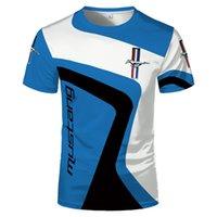 قمصان F1 قميص ماركة فورد موستانج الرجال تي شيرت على الطرق الوعرة الفورمولا واحد سباق البدلة البلوز