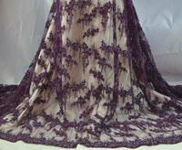 Тяжелый африканский шнур кружева ткани высокого качества сиреневый зеленый Дубай кружевная ткань нигерийские свадебные кружевные материалы с жемчужными бусинами
