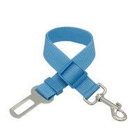 Colliers de chien de compagnie réglables de chien de sécurité Ceinture de sécurité Nylon animaux domestiques Chiot PLADH Harnais Harnais Produits de Voyage 19 R2