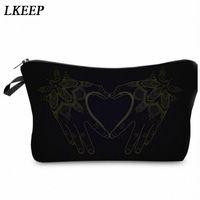 2019 Love Heart Pattern Women Clutch Cosmetic Bag Make Up Organizer Fashion Women Printing Multifunction Portable Makeup Bags p79Z#