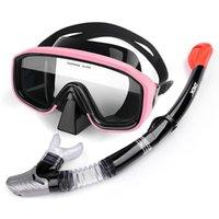 Diving Masks Scuba Mask Full Face Underwater Swimming Tube Respiratory Anti Fog Goggles Snorkeling Professional Equipment