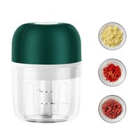Blender USB Wireless Electric Garlic Press Home Portable Masher Meshed Device Mini Meat Grinder Baby Supplement Food Mixer