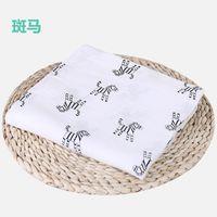 Muslin Baby Blanket Cotton Newborn Swaddles Bath Gauze Infant Wrap Kids Sleepsack Stroller Cover Play Mat 78 Designs 50pcs 234 S2