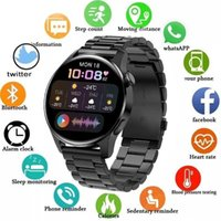 Man Smart Watch Bluetooth Call Smartwatch Men Sport Fitness Bracelet Alarm Reminder Watches For Android Apple Xiaomi Huawei+Box