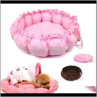 PENS liefert Hausgarten Drop Lieferung 2021 Kaschmire-artige weiche warme Haustierkatze-Bett-Betten-Kennels erweiterbarschrumpfbar Nest Luxus Hundebett Runde W