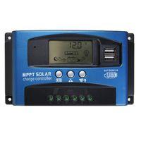 30/40/50/60 / 100A MPPT Panneaux solaires-Contrôleur LCD Contrôleur de charge Solar Régulateur de batterie Dual USB Panneau solaire