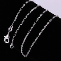 2mm 925 Sterling Silver Link Chains Jewelry Fashion Women Man Men DIY Rolo O Chain Necklace Findings Fit Pendant with Lobster Clasps 24Inches