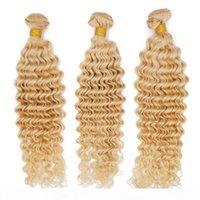 Remy İnsan Saç Dokuma Derin Dalga Perulu Bakire Saç Demetleri 613 Sarışın Siyah Kadınlar Için Ucuz Saç Uzatma Kraliçe Benzer 9A Elmas Sınıf