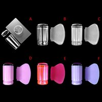 Nail Art Kits Stamper Set Jelly Head With Scraper Template Print Silicone Stamping Plate Tools Manicure Accessories