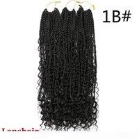 22inch River Crochet Box tresses avec boucles Boho Braids 12 Strands Synthetic Dody Box Boîtes Braids 70g PC Crochet Extensions de cheveux Courbis