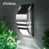 벽 램프 고품질 LED 태양 전원 PIR 모션 센서 빛 야외 정원 가로 야드 잔디 보안 자동 / 끄기
