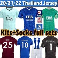 21/22 Leicester Futbol Formaları 2021 Şehir Vardy Maddison Tielemans Ndidi Camiseta De Fútbol Erkekler Çocuk Kitleri + Çorap Tam Setleri Maillot de Futbol Gömlek Tayland