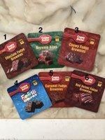 Fudge Edible Brownies Paquete Mylar Bolsas para Embalajes de chocolate Embalaje Vape Bag Spell Proof Gusset A Todo Color Impreso Poly Resellable MyLA Paquetes