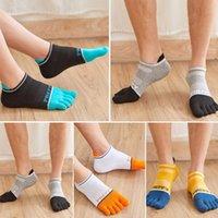 Men's Socks 5 Pairs Set Five Finger Men Cotton Short Tube Toe Split College Wind Protection Heel Four Seasons