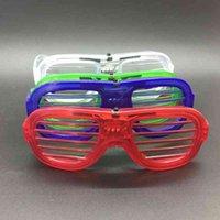 플래시 응원 안경 파티 블라인드 차가운 빛 안경 플라스틱 LED 빛나는 휴일 장식 안경 휴가 호의 VT1497