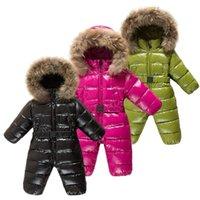 Down Coat Winter Duck Jacket Boy Children Thicken Ski Suit Girl Waterproof Warm Jumpsuit Baby Snowsuit Kids Overalls Infant
