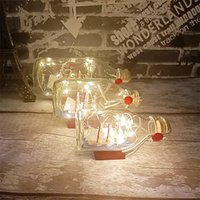 Modules Home Decoration Floating Bottle LED Night Light Sailing Boat Handmade Bookcase Window Desktop Gift