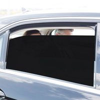2pcs Car Styling PVC Side Window Sunshades Stickers Electrostatic Sticker Sunscreen Film Cover Automobiles Auto Accessories