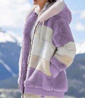 New Womens Winter Sweater Thick Warm Designer Designer Trendyol X-Lungo Maglioni di lana Faux Fluffy Pelliccia Teddy Hooded Fleece Giacca Cappotti Cappotti Cappotti