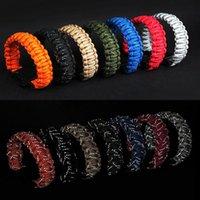 Открытый кемпинг Paracord веревочка зонтик девять ядро отражающий плетеный свист