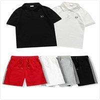 2021 SHIPSUITS MODE DE MODE DE MOYENS POLO T-shirts + Shorts Lettre MENS Lettre Impression Costumes Mens Summer Tracksuit Haute Qualité T-shirts Casual Casual Short
