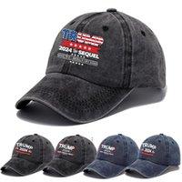 Trump Hat 2024 U.S Presidential Election Baseball Cap Party Hats Make America Great Again Black Cotton Sports Caps BWF8774