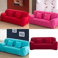 1 2 3 4 places Canapé Couverture Spandex Élastique Moderne Polyester Solid Couch Slipcover Chaise Chaise Mobilier Protecteur Salon 6 Couleurs 471 V2