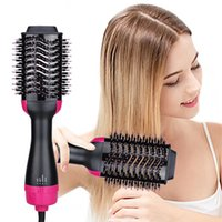 Electric Hair Brushes 3 In 1 Dryer Brush One Step Air Volumizer Blow Straightener Curler Blowdryer Curling Iron Styler Comb