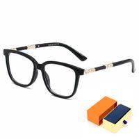 Luxus-Serie Mann-Brillen Harry Potter derselbe Stil ohne dabei transparente Linse Mode Top Qualität High-End-Frauengläser mit kompletter Verpackungsbox AAA +