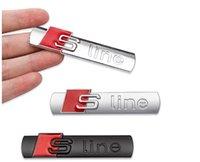 New Metal Auto Car Chrome Matt Silver Black Badge for Audi S Line Sline A4 S4 RS4 A6 TT A3 Emblem Sticker Accessories