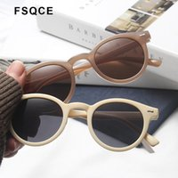 Sunglasses FSQCE Retro Round Women Brand Design Transparent Female Sun Glasses Optical Feminino Eyewear