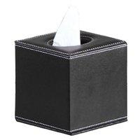 Caixas de tecido na caixa de guardanapo de couro PU suporte de papel higiênico de papel tampa de caixa capa dispensador de canister para decoração de casa
