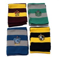 Harry Potter Cosplay Cachecol Gryffinder Slytherin College Badge quente e confortável