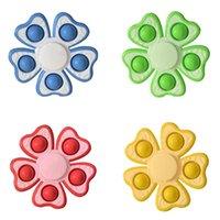 Push Bubble Fidget Spinner Игрушки Party FABLE SENSORY Простой ДИММ Спиннинг Топ Поппер Пузырьки Сжать пальцы Gyro Для Стрессовой Рельеф Средства Разложения Цветочные Подарки