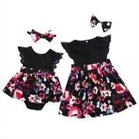 Toddler Baby Kid Girls Clothes Big Sister Flower Tutu Dress Little Newborn Rompers Summer Costumes