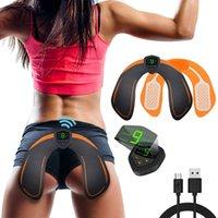 Core Ems Treinador Hip Estimulador de ABS Enterior Treinamento com exposição LCD Smart Fitness Exercício Engrenagem de Engrenagem Levantando Muscle Massage Pad