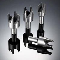 Acessórios para móveis 4 pcs plugue de madeira cortador ferramenta de corte de madeira broca de madeira conjunto garra cortiça 6mm, 10mm, 13mm, 16mm