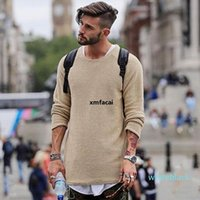 Casual Men &#039 ;S Sweater Solid Color Long Sleeve Jackets O Neck Pullovers Knitwear Long Jumpers Autumn Oversized Youth Longline Tops X q